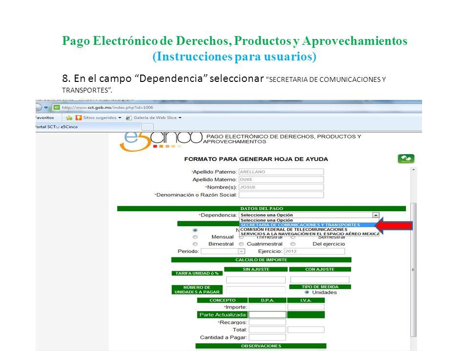 Pago Electrónico de Derechos, Productos y Aprovechamientos (Instrucciones para usuarios)