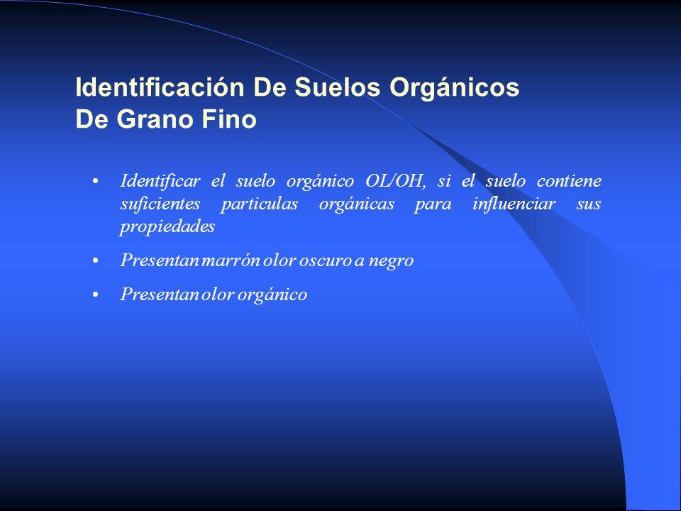 Identificación De Suelos Orgánicos De Grano Fino