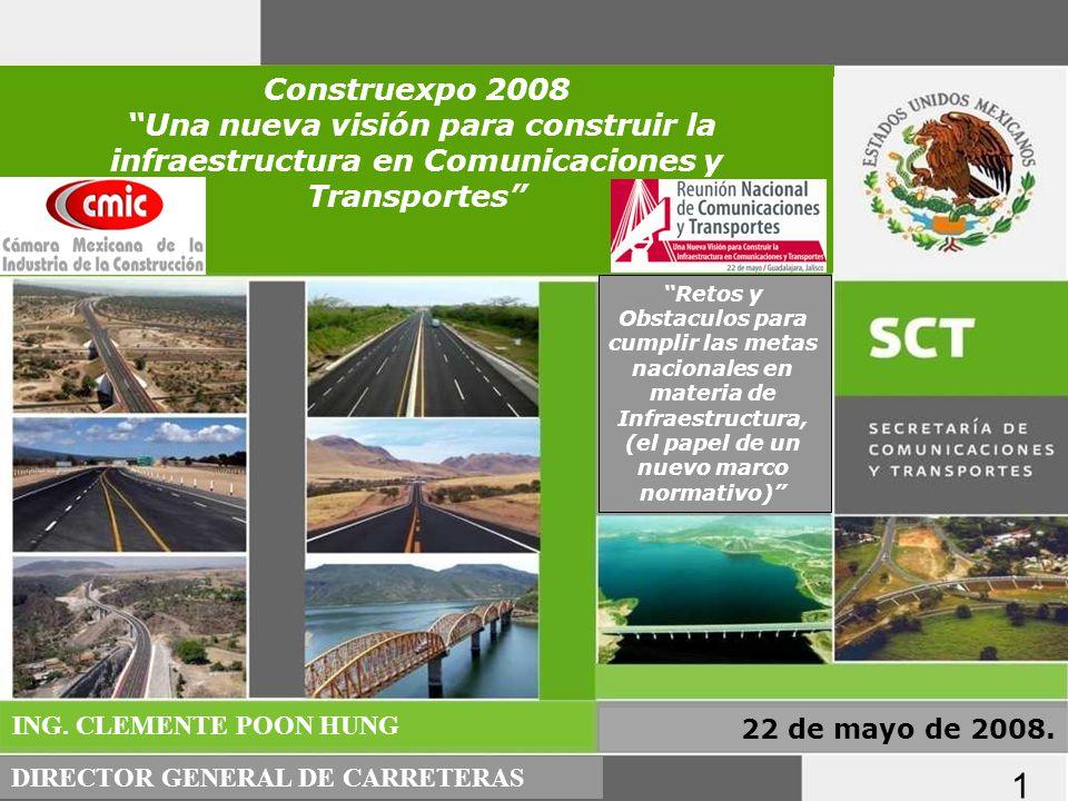 PROGRAMA NACIONAL DE INFRAESTRUCTURA 2007-2012: SECTOR CARRETERO