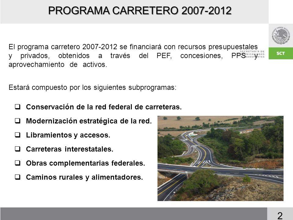 PROGRAMA CARRETERO 2007-2012