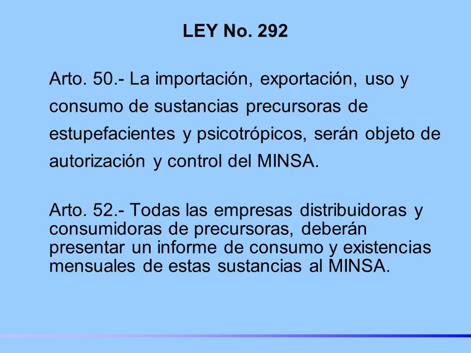 LEY No. 292