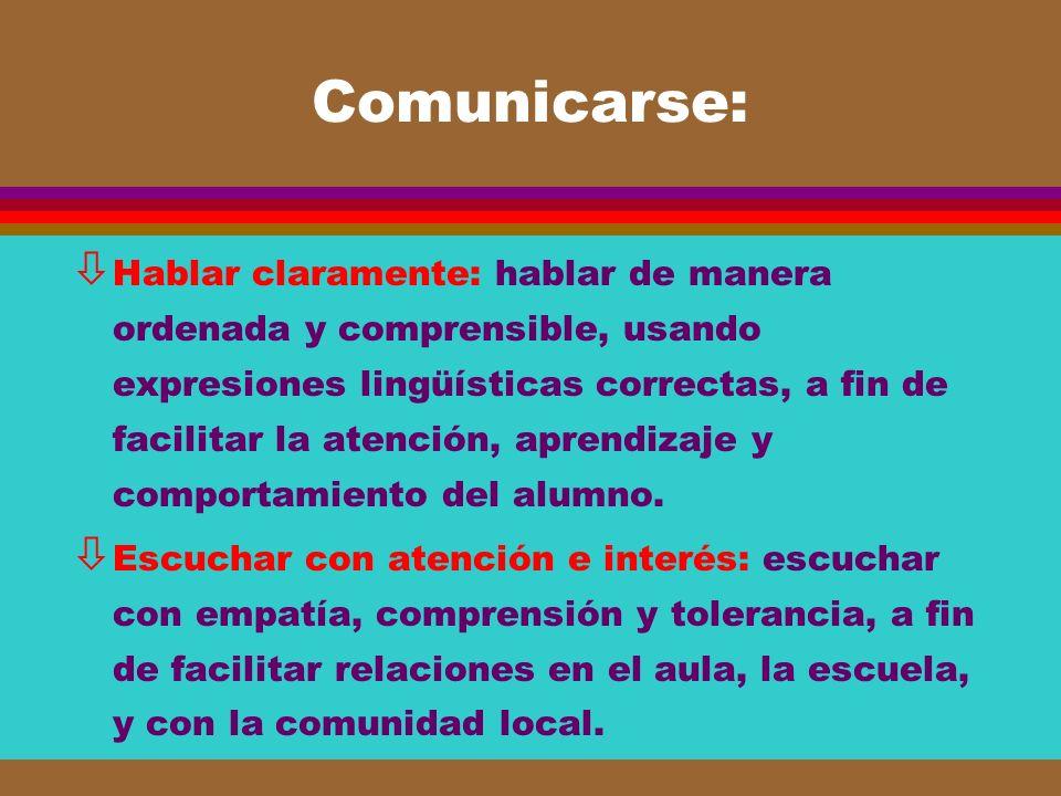 Comunicarse: