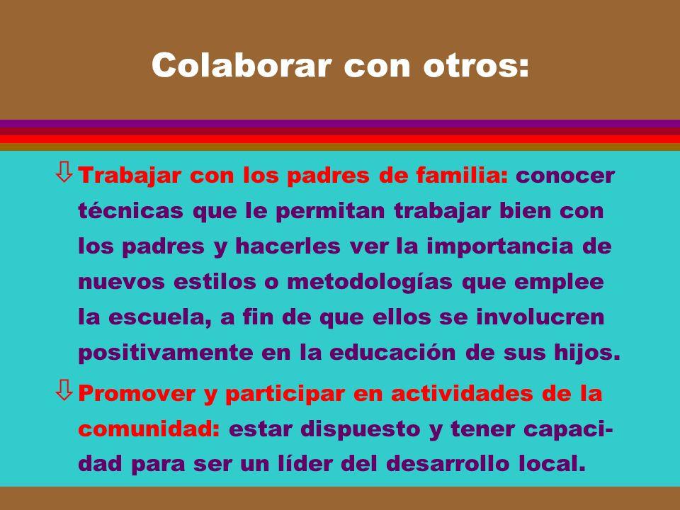 Colaborar con otros: