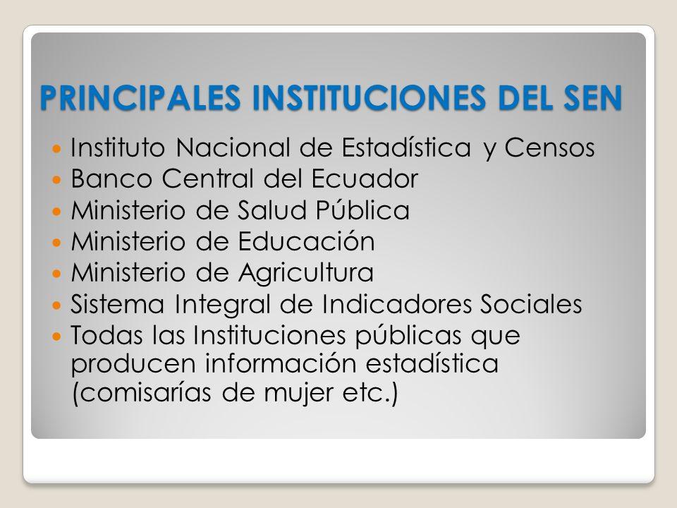 PRINCIPALES INSTITUCIONES DEL SEN