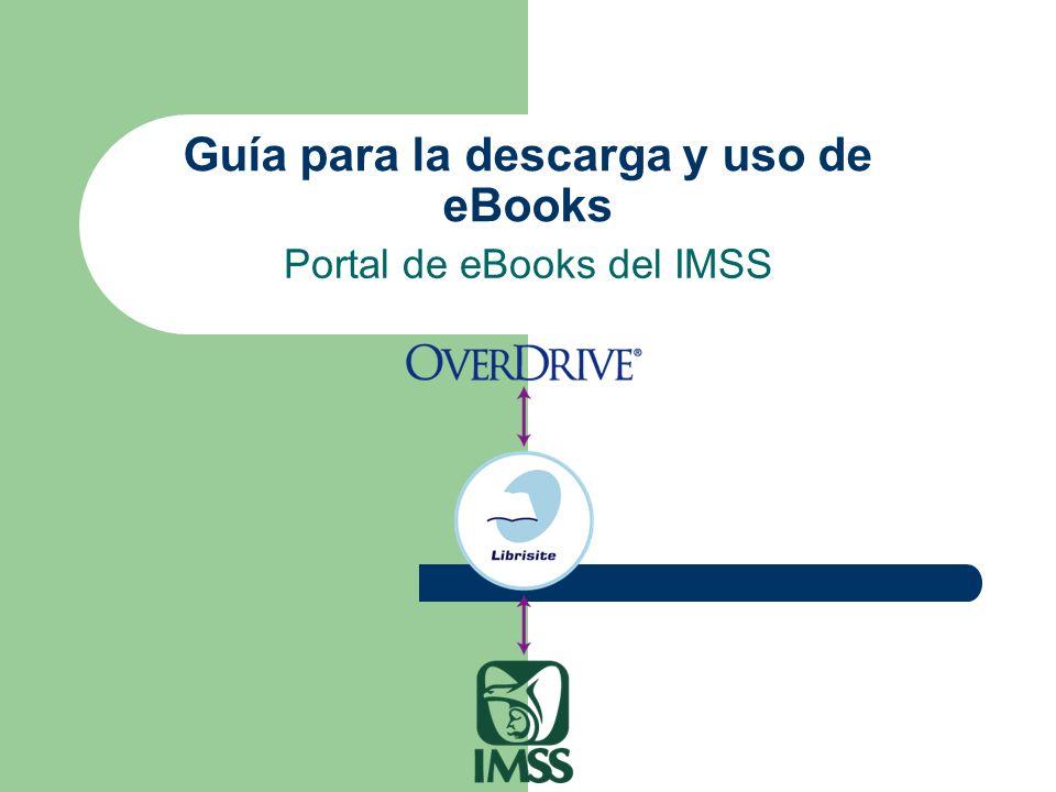 Guía para la descarga y uso de eBooks