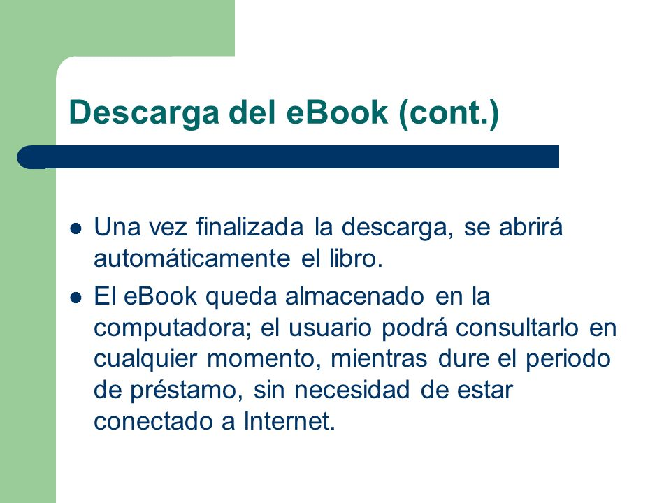 Descarga del eBook (cont.)