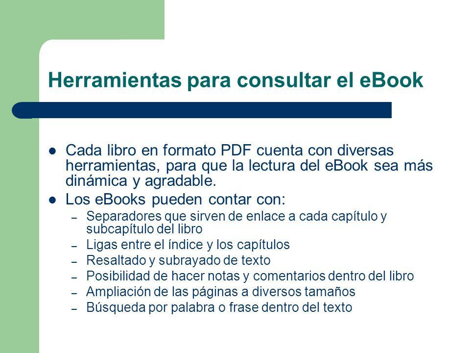 Herramientas para consultar el eBook
