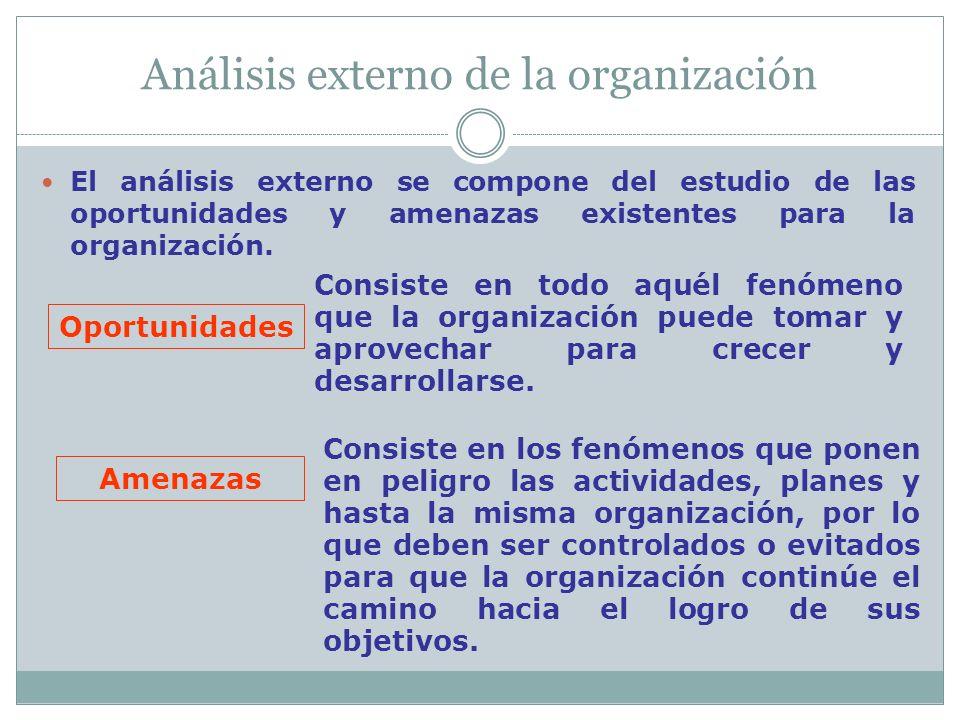 Análisis externo de la organización