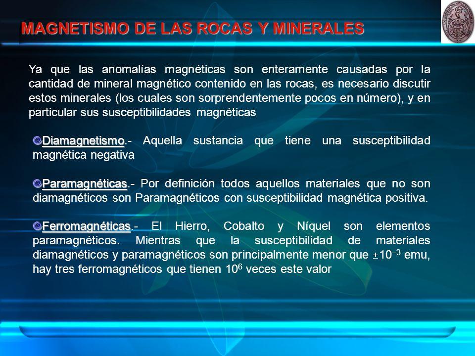 MAGNETISMO DE LAS ROCAS Y MINERALES