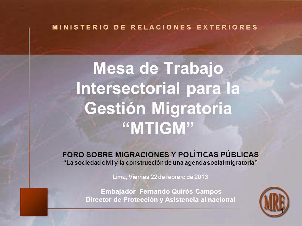 Mesa de Trabajo Intersectorial para la Gestión Migratoria MTIGM