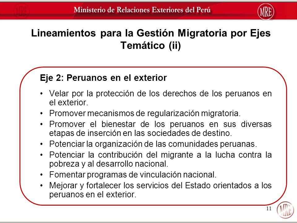 Lineamientos para la Gestión Migratoria por Ejes Temático (ii)