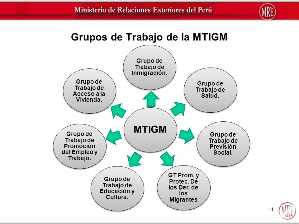 Grupos de Trabajo de la MTIGM