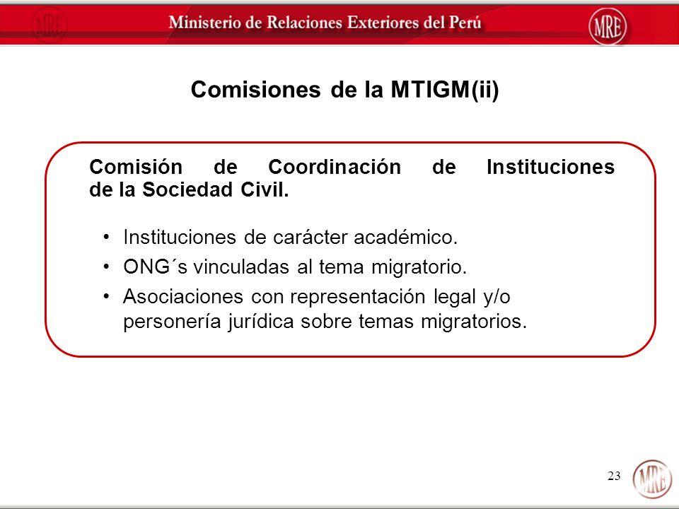 Comisiones de la MTIGM(ii)