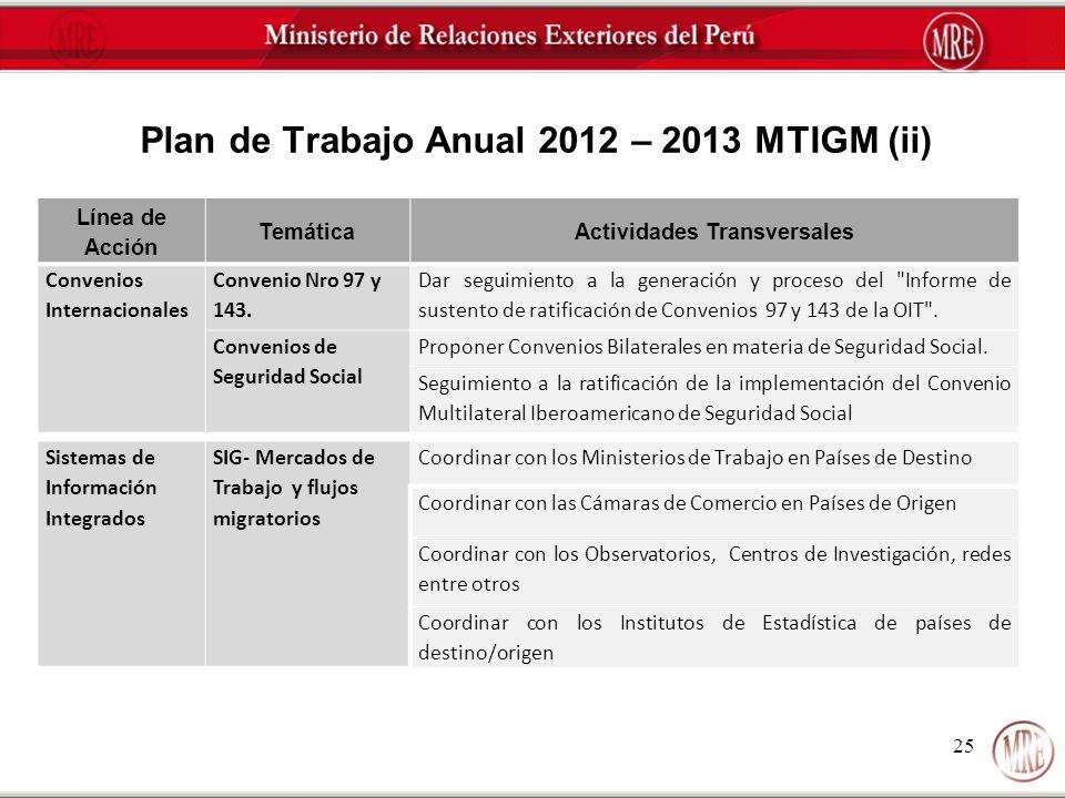 Plan de Trabajo Anual 2012 – 2013 MTIGM (ii)