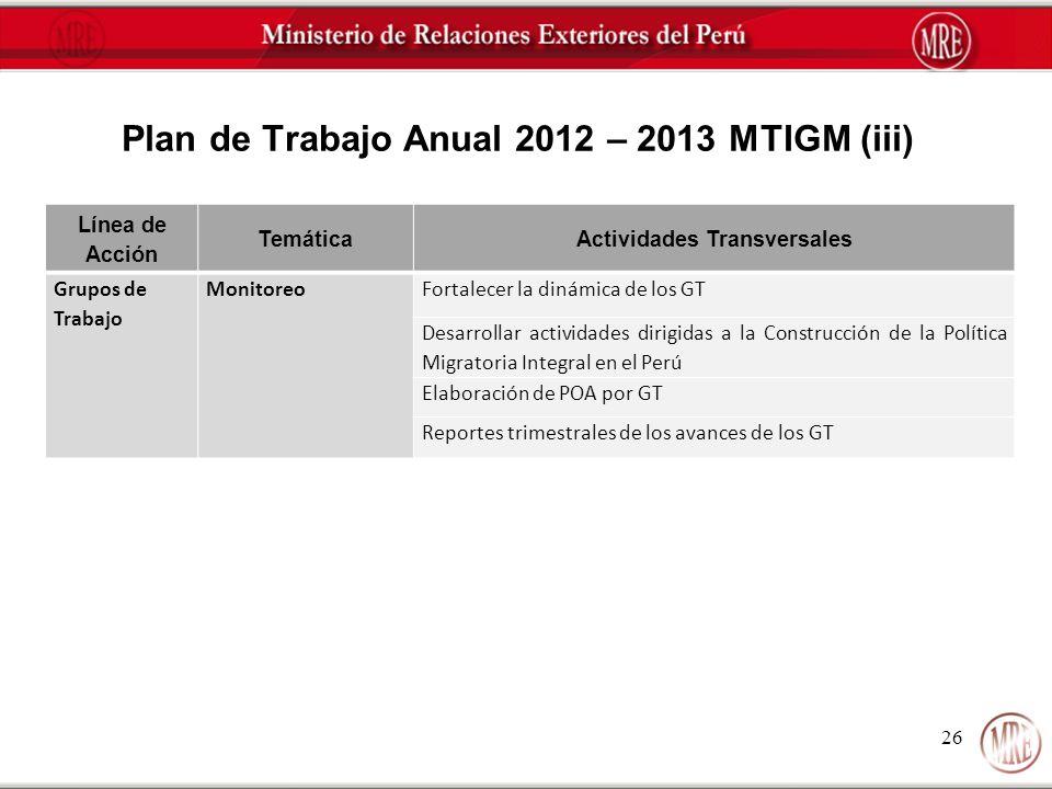 Plan de Trabajo Anual 2012 – 2013 MTIGM (iii)