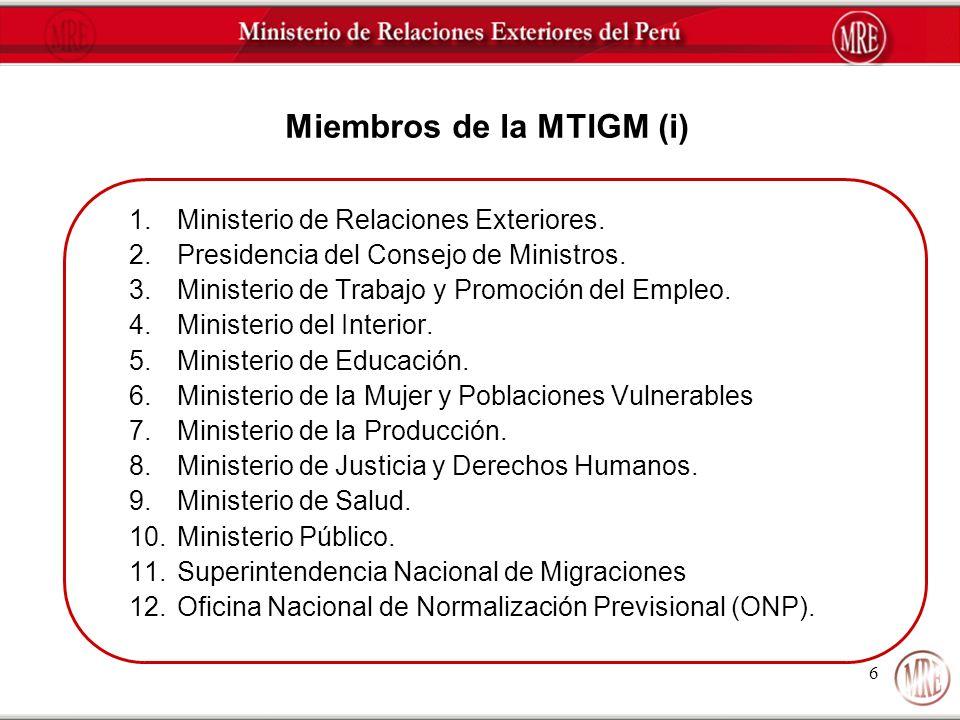 Miembros de la MTIGM (i)