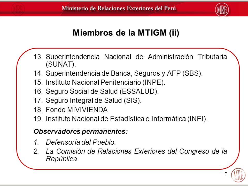 Miembros de la MTIGM (ii)
