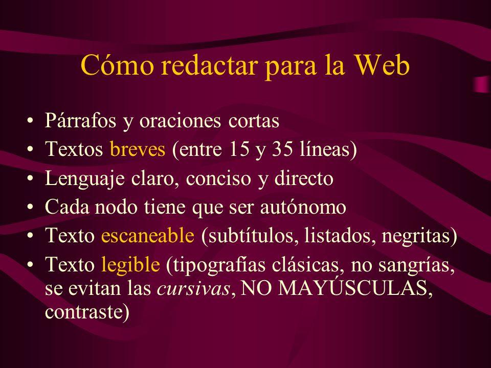 Cómo redactar para la Web