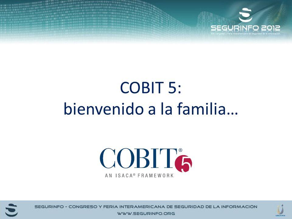 COBIT 5: bienvenido a la familia…