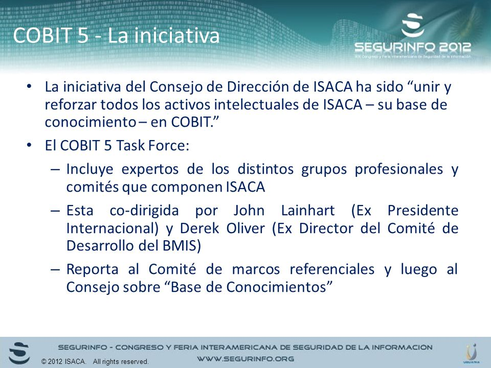 COBIT 5 - La iniciativa