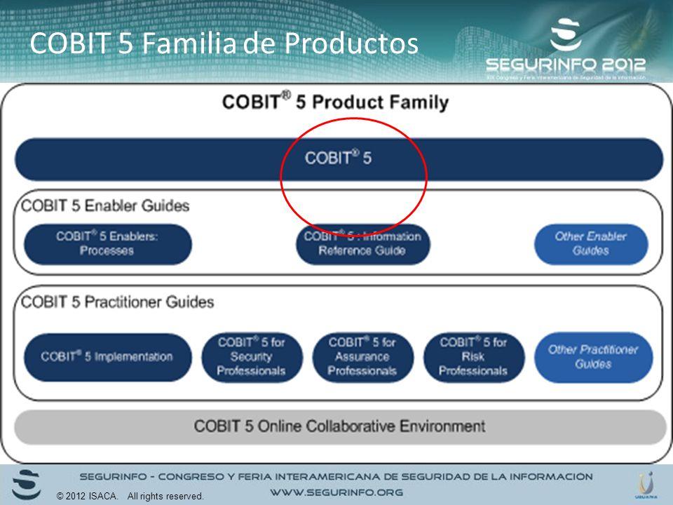 COBIT 5 Familia de Productos