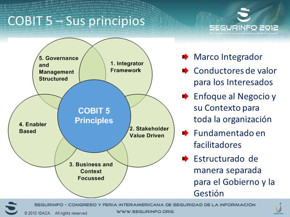 COBIT 5 – Sus principios Marco Integrador