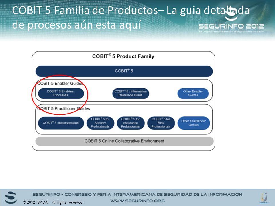 COBIT 5 Familia de Productos– La guia detallada de procesos aún esta aquí