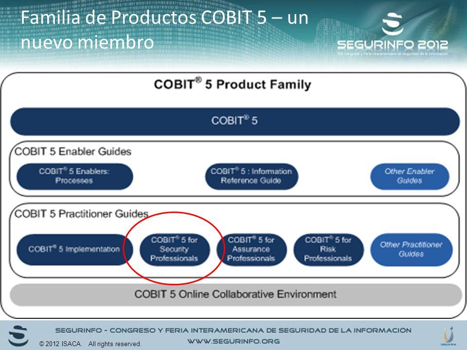 Familia de Productos COBIT 5 – un nuevo miembro