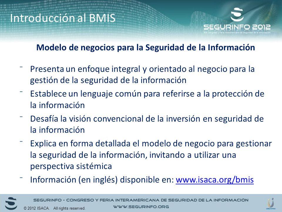 Modelo de negocios para la Seguridad de la Información