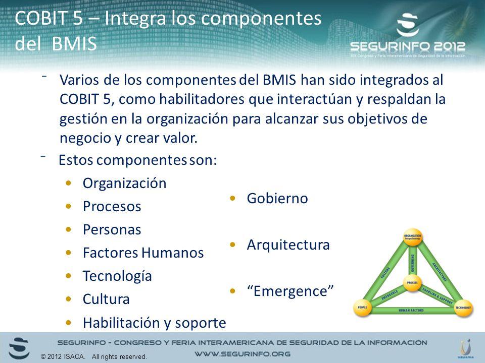 COBIT 5 – Integra los componentes del BMIS