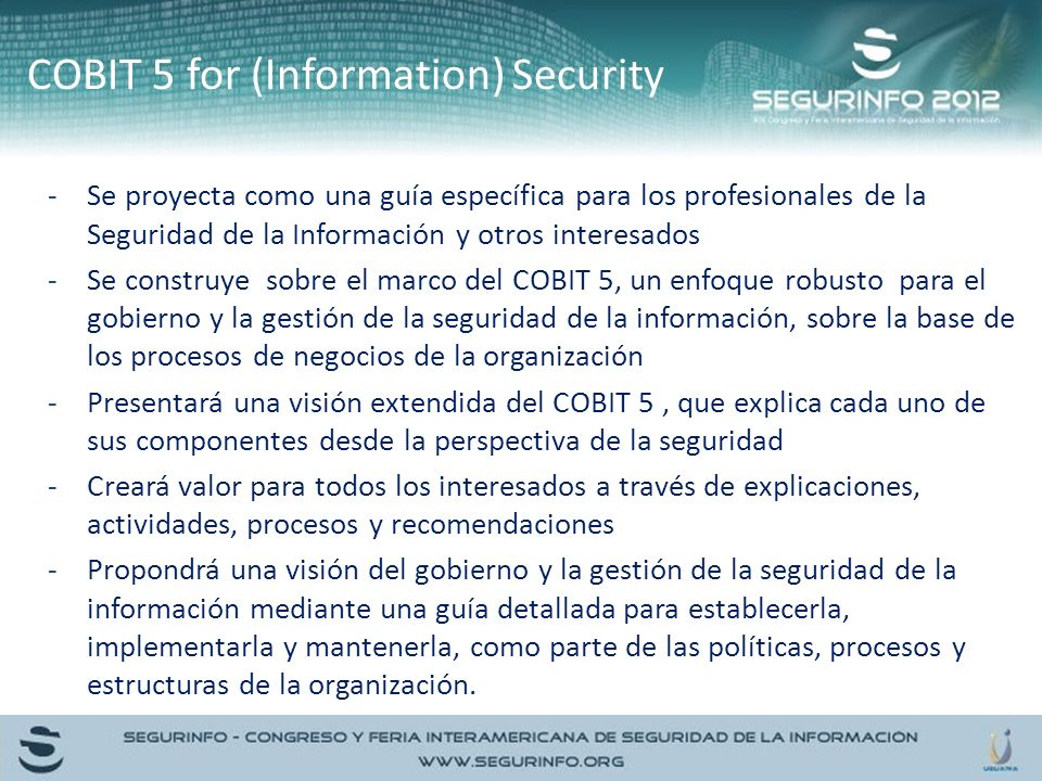 COBIT 5 for (Information) Security