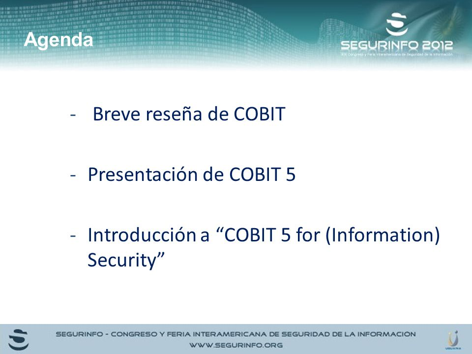 Introducción a COBIT 5 for (Information) Security