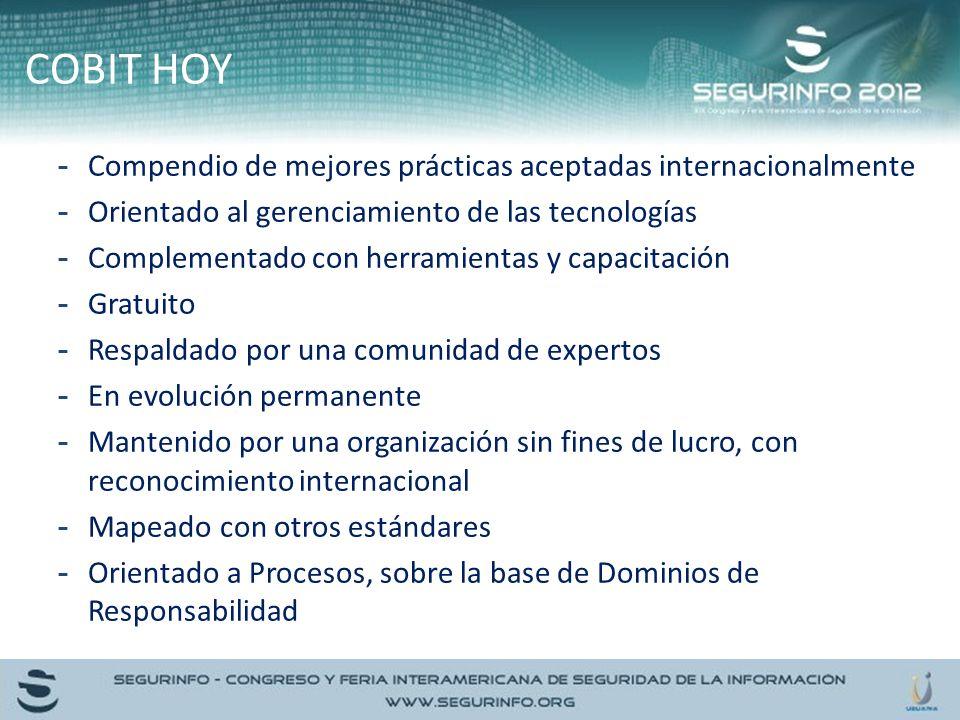 COBIT HOY Compendio de mejores prácticas aceptadas internacionalmente