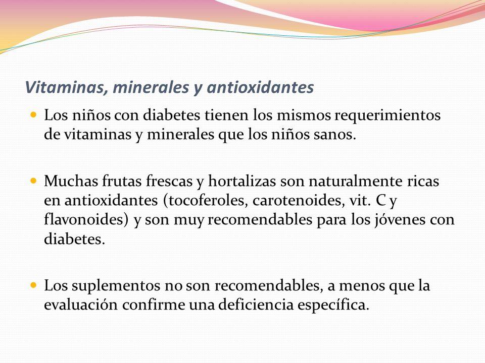 Vitaminas, minerales y antioxidantes