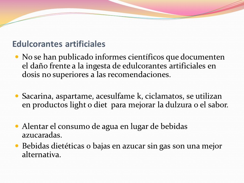 Edulcorantes artificiales