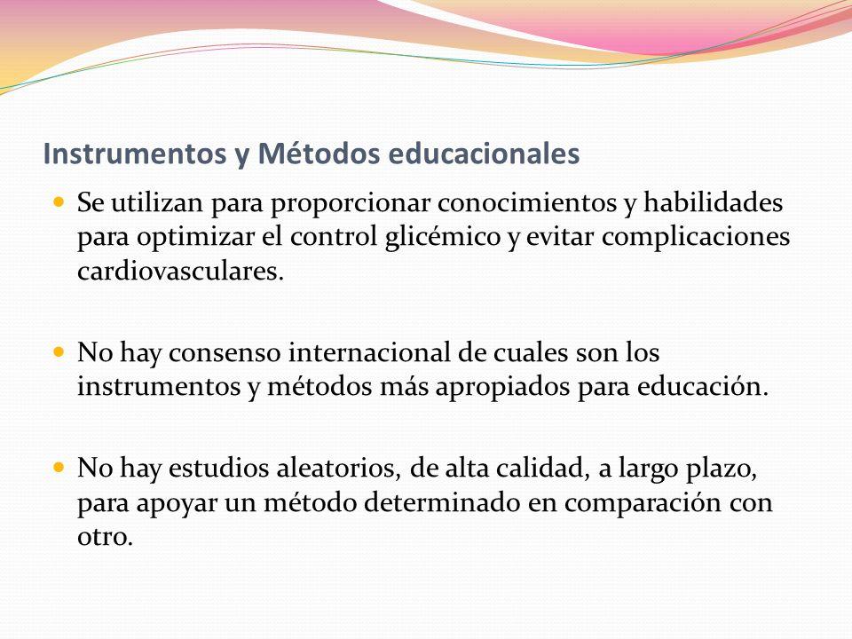 Instrumentos y Métodos educacionales