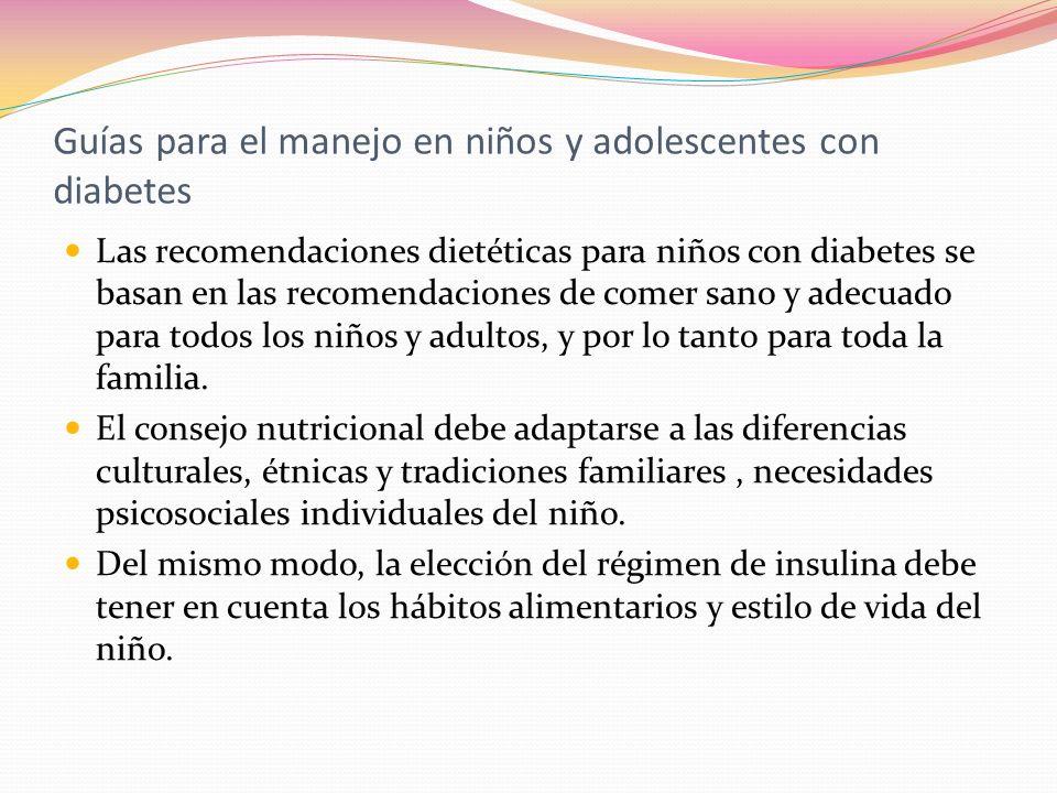 Guías para el manejo en niños y adolescentes con diabetes