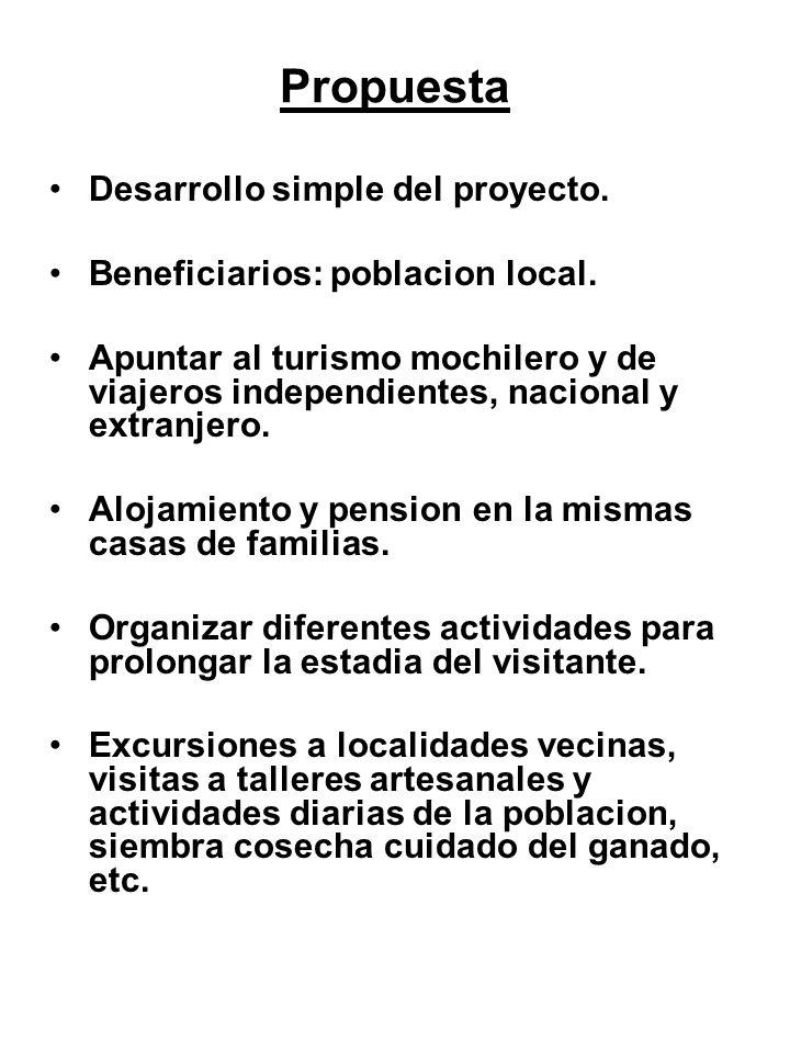 Propuesta Desarrollo simple del proyecto.