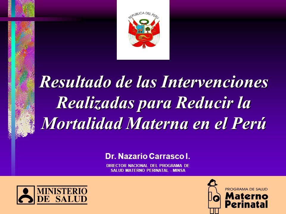 DIRECTOR NACIONAL DEL PROGRAMA DE SALUD MATERNO PERINATAL - MINSA