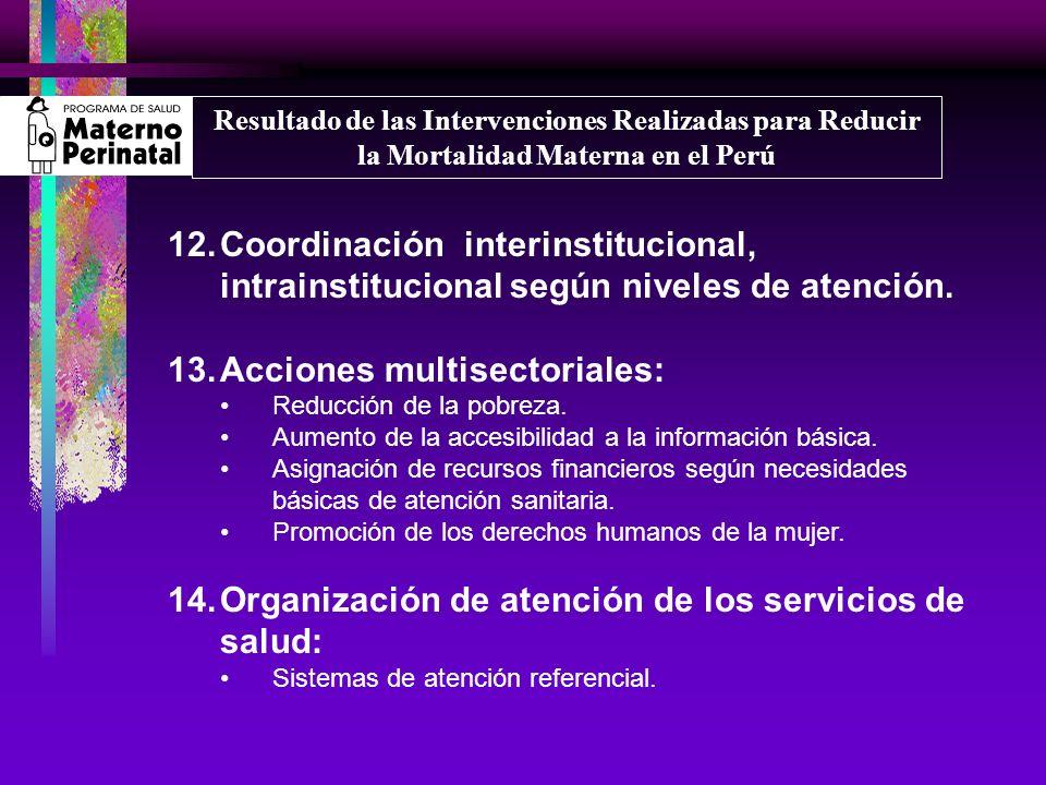 Acciones multisectoriales: