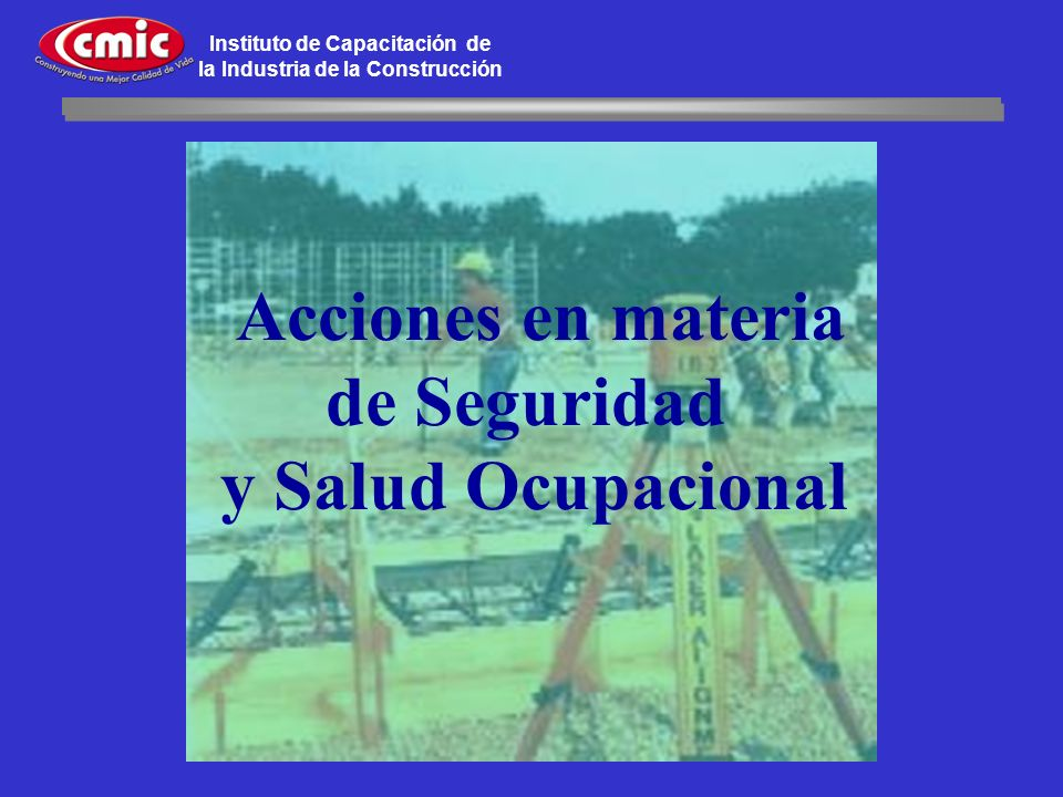 Acciones en materia de Seguridad y Salud Ocupacional