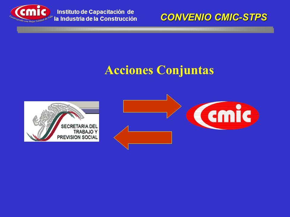 Acciones Conjuntas CONVENIO CMIC-STPS