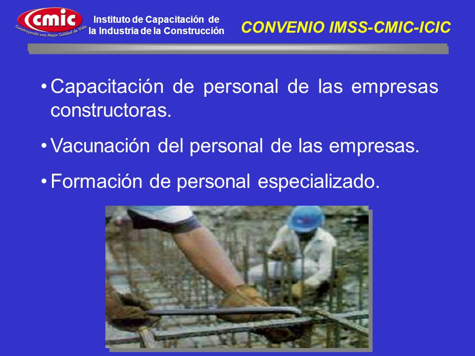 CONVENIO IMSS-CMIC-ICIC
