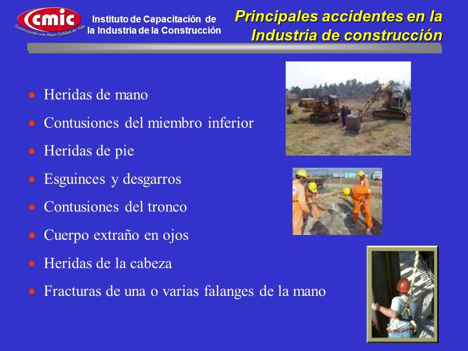 Principales accidentes en la Industria de construcción