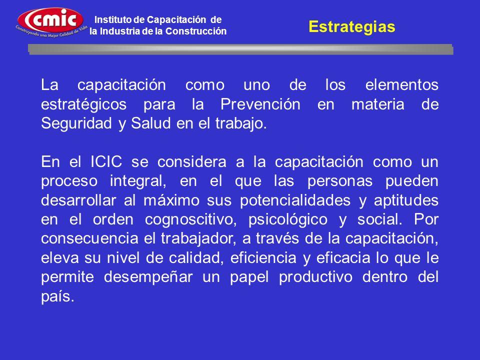 Estrategias La capacitación como uno de los elementos estratégicos para la Prevención en materia de Seguridad y Salud en el trabajo.