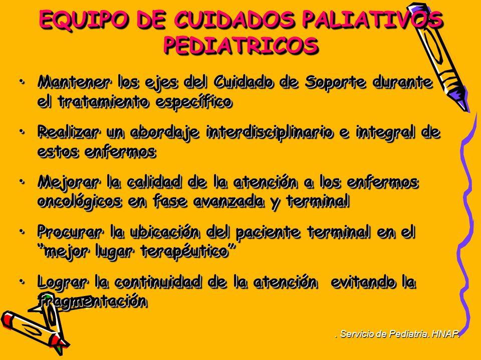 EQUIPO DE CUIDADOS PALIATIVOS PEDIATRICOS