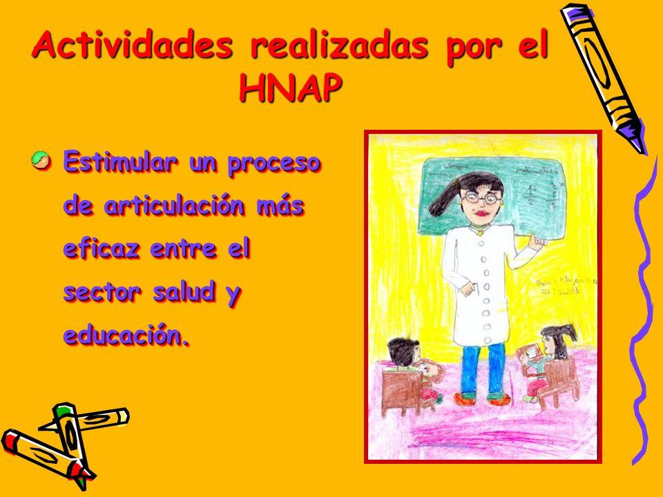 Actividades realizadas por el HNAP