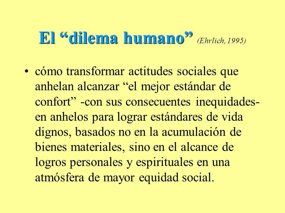 El dilema humano (Ehrlich, 1995)