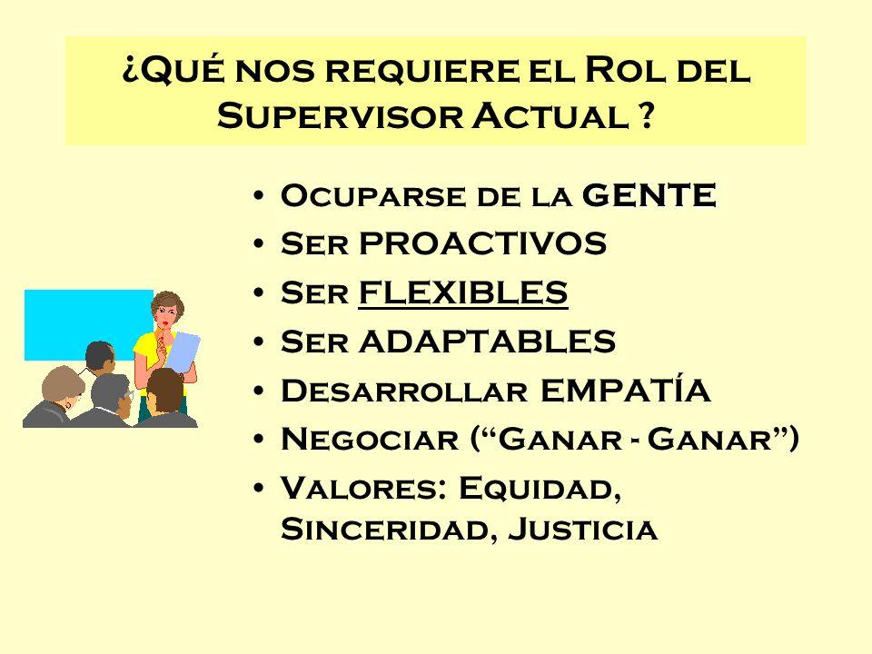 ¿Qué nos requiere el Rol del Supervisor Actual