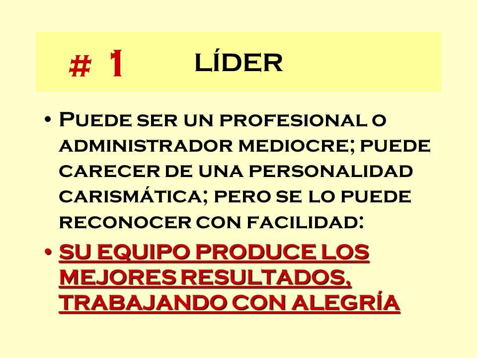 LÍDER # 1.